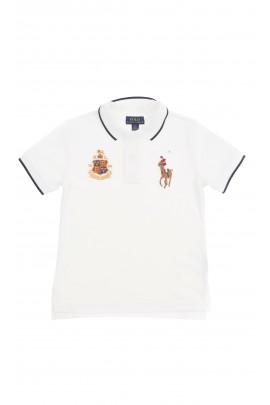 Biała koszulka polo chłopięca, Polo Ralph Lauren