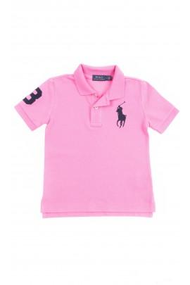Różowa koszulka polo chłopięca, Polo Ralph Lauren