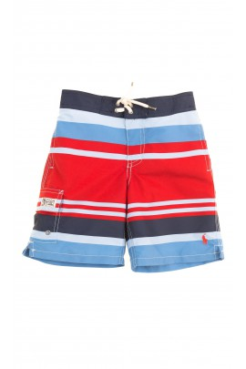 Szorty chłopięce w czerwono-niebieskie paski, Polo Ralph Lauren