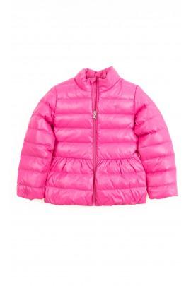 Przejściowa lekko ocieplana różowa kurtka dziewczęca, Polo Ralph Lauren