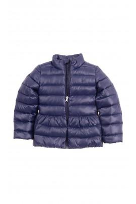 Przejściowa lekko ocieplana granatowa kurtka dziewczęca, Polo Ralph Lauren