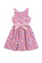 Różowa sukienka w kolorowe kwiaty, Polo Ralph Lauren