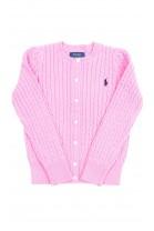Różowy sweter rozpinany z przodu, Polo Ralph Lauren