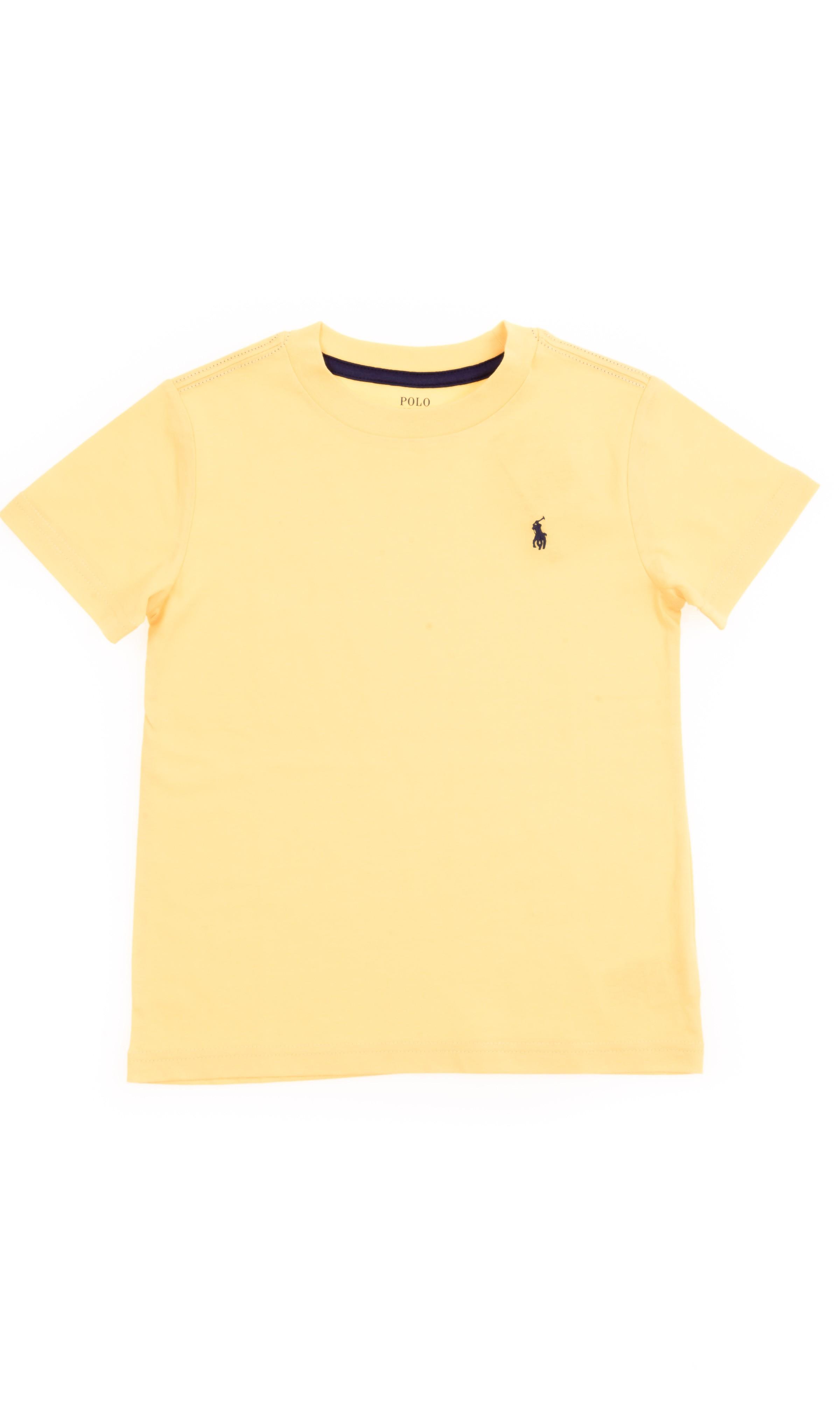 Żółty t-shirt chłopięcy na krótki rękaw 17a04d35f47