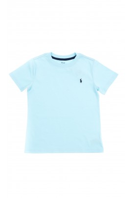 Turkusowy t-shirt chłopięcy na krótki rękaw, Polo Ralph Lauren