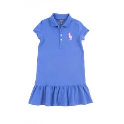 Szafirowa sukienka z falbanką na dole, Polo Ralph Lauren