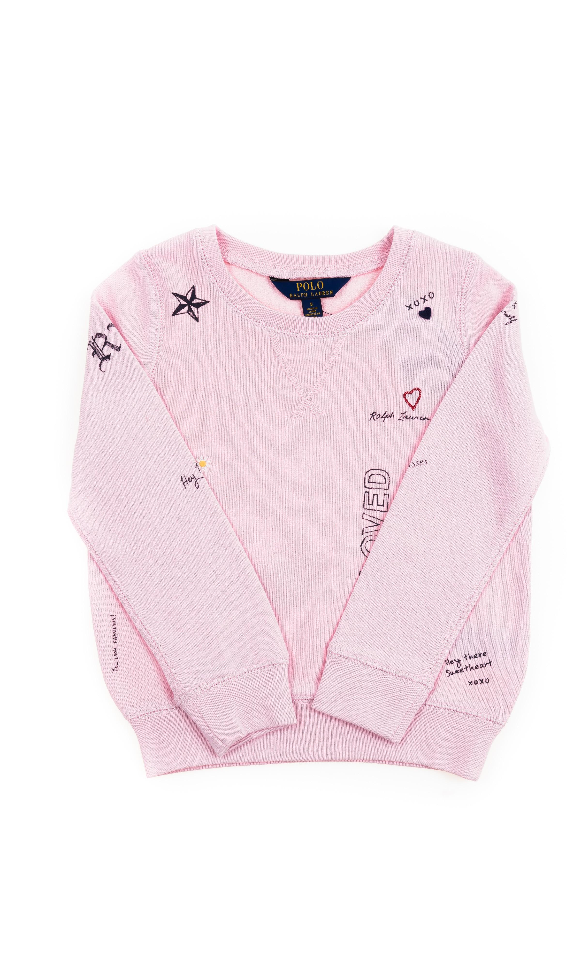 c348288d9d Różowa bluza dresowa z nadrukiem dla dziewczynki