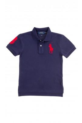 Granatowa koszulka polo chłopięca, Polo Ralph Lauren