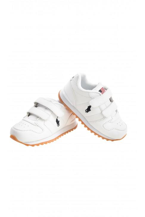Białe sportowe półbuty na rzepy, Polo Ralph Lauren
