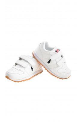 Chaussures de sport blanches à 2 velcro, Polo Ralph Lauren