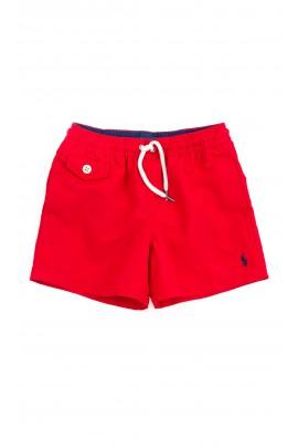 Czerwone szorty kąpielowe chłopięce, Polo Ralph Lauren