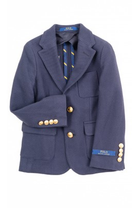 Granatowa marynarka klubowa dla chłopca, Polo Ralph Lauren