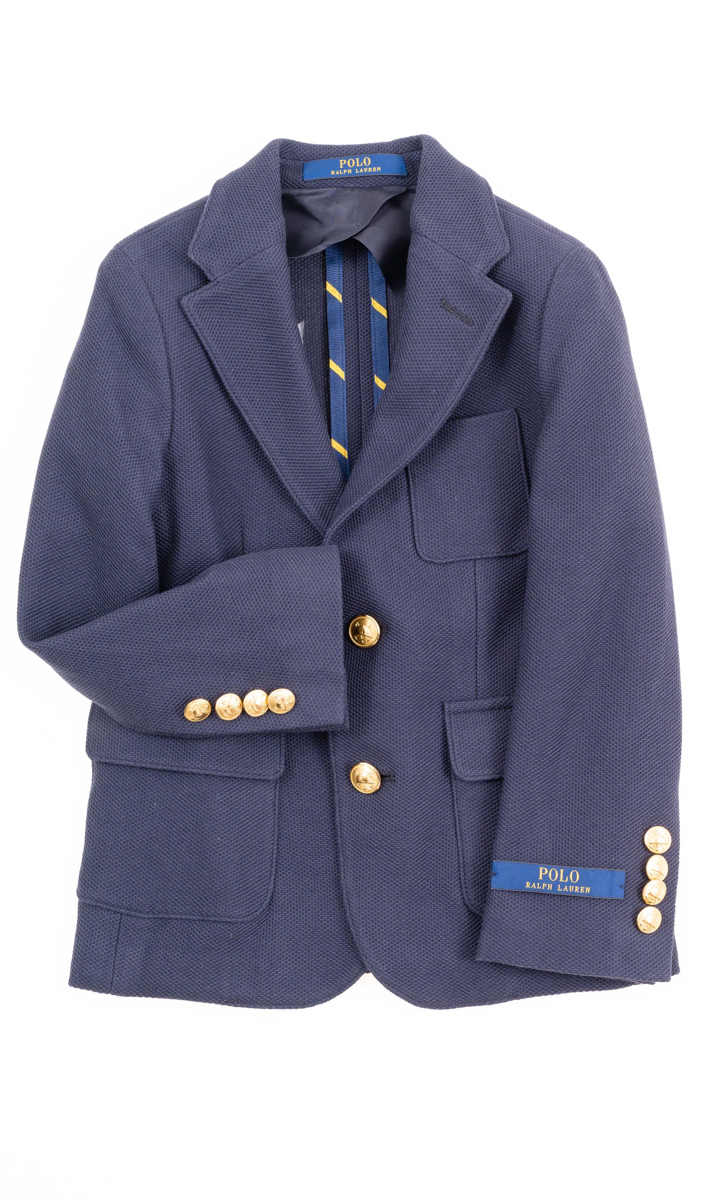 29e3850d50742 Granatowa marynarka klubowa dla chłopca, Polo Ralph Lauren ...