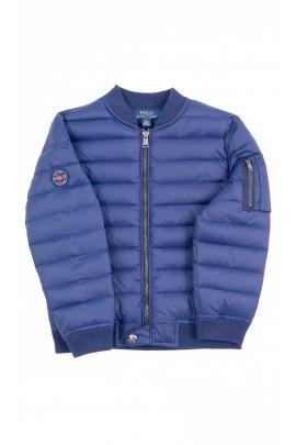 Granatowa przejściowa kurtka chłopięca, Polo Ralph Lauren