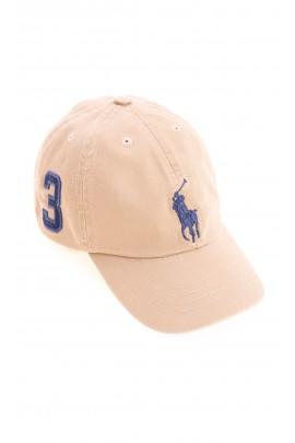 Khaki czapka z daszkiem, Polo Ralph Lauren