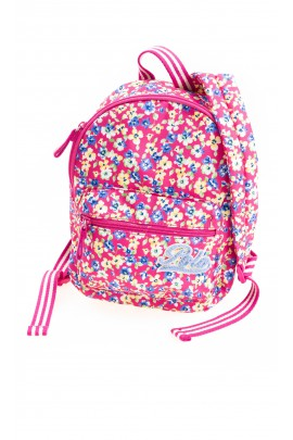 Różowy plecak dla dziewczynki w kolorowe kwiaty, Polo Ralph Lauren