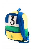Żółto-zielony jednokomorowy plecak, Polo Ralph Lauren