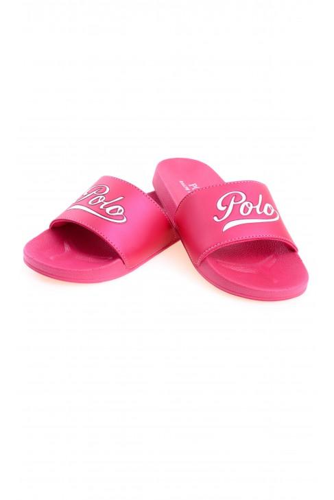 Różowe klapki dziewczęce, Polo Ralph Lauren