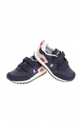 Granatowe sneakersy chłopięce na rzepy, Polo Ralph Lauren