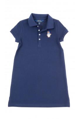 Granatowa prosta sukienka, Polo Ralph Lauren