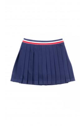 Granatowa układana w zakładki spódnica, Polo Ralph Lauren