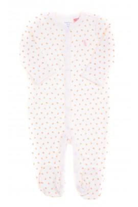Biały śpioszek ze stópkami w różyczki, Ralph Lauren