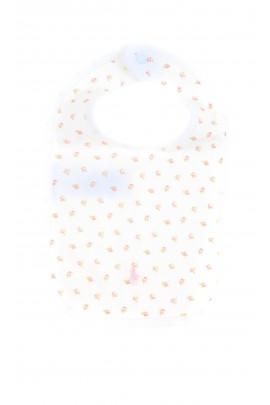 Biały śliniak niemowlęcy w różyczki, Ralph Lauren