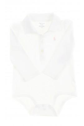 Eleganckie białe body z kołnierzykiem polo, Ralph Lauren