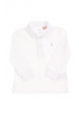 Eleganckie białe polo z długim rękawem, Ralph Lauren
