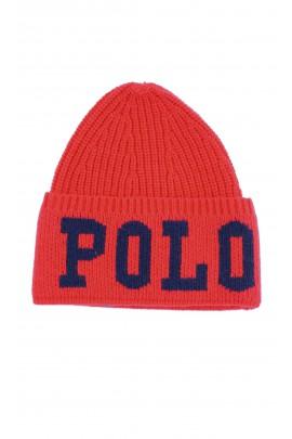 Ciepła czerwona wciągana czapka, Polo Ralph Lauren