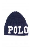 Ciepła granatowa wciągana czapka, Polo Ralph Lauren