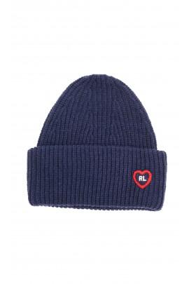 Ciepła gruba wciągana czapka, Polo Ralph Lauren