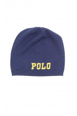 Cienka granatowa czapka wciągana, Polo Ralph Lauren