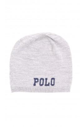 Cienka szara czapka wciągana, Polo Ralph Lauren