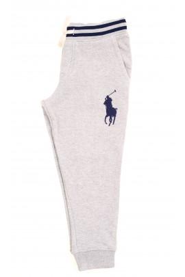 Szare spodnie dresowe z przodu z dużym konikiem, Polo Ralph Lauren