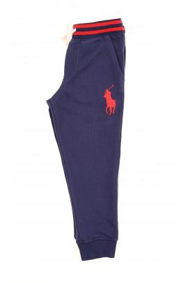 Granatowe spodnie dresowe z przodu z dużym konikiem, Polo Ralph Lauren
