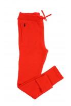 Czerwone spodnie dresowe dziewczęce, Polo Ralph Lauren