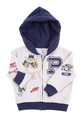 Szaro-granatowy dres niemowlęcy, Ralph Lauren