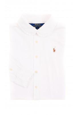 Elegancka biała dziewczęca bluzka koszulowa, Polo Ralph Lauren