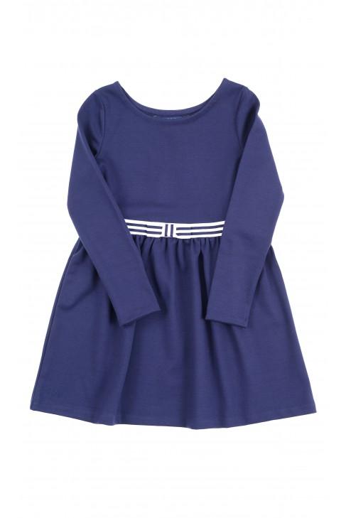 Granatowa sukienka z długim rękawem, Polo Ralph Lauren