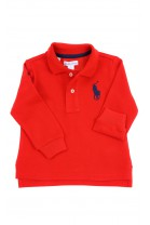 Czerwona koszulka polo na długi rękaw, Ralph Lauren