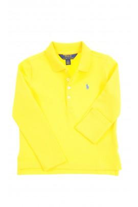 Żółta koszulka polo dziewczęca na długi rękaw, Polo Ralph Lauren