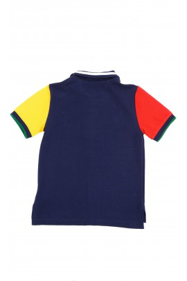 Zielono-granatowa koszulka polo na krótki rękaw, Polo Ralph Lauren