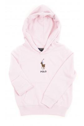 Różowa bluza dresowa z kapturem wkładana przez głowę, Polo Ralph Lauren