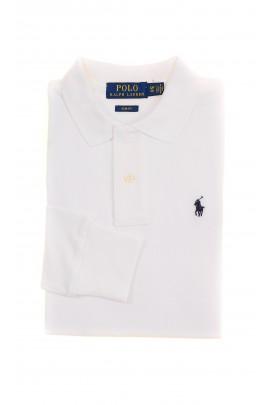 Biała koszulka polo na długi rękaw, Polo Ralph Lauren