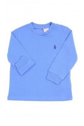 Niebieski t-shirt na długi rękaw, Ralph Lauren