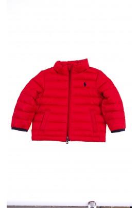 Czerwona niemowlęca kurtka ocieplana, Ralph Lauren