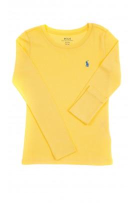 Żółta bluzka na długi rękaw dziewczęca, Polo Ralph Lauren