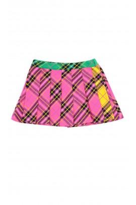 Spodnio - spódnica różowa w kolorową kratę, ELSY