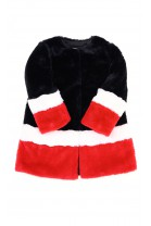 Kolorowe futerko dziewczęce czarno czerwono białe, T-LOVE